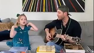 Jensen Ackles And His Daughter Singing (March 17, 2020)