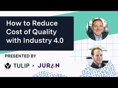 Comment réduire le coût de la qualité avec l'industrie 4.0 | Webinaire sur la fabrication numérique