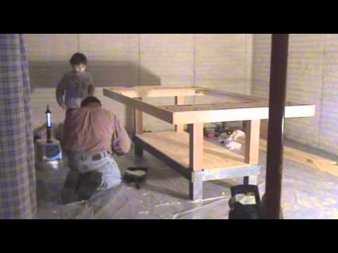 Slot car track building time lapse