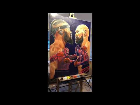 DEONTAY WILDER V TYSON FURY - INCREDIBLE TIME-LAPSE PAINTING BY PATRICK J KILLIAN (KILLIAN ART) Mp3
