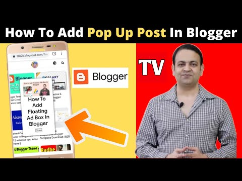 How To Add Pop Up Post In Blogger    Tech Benefit B2B