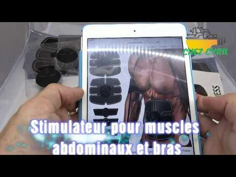 Présentation d\'un lot de 3 EMS Stimulateurs électriques pour les Abdominaux et les Bras