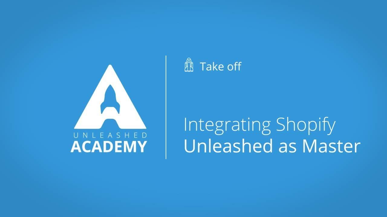 Integrating Shopify - Unleashed as Master YouTube thumbnail image