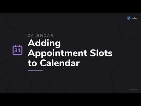 Adding Appointment Slots to Calendar