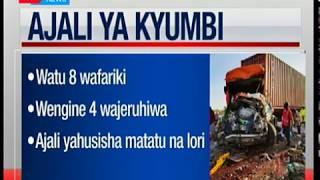 Watu wanane wafariki kwenye ajali ya Kyumbi iliyohusisha matatu na lori
