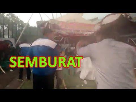 Badai Kembali Terjang Ngawi, Panggung dan Tenda untuk Lomba Panahan di Alun-alun Porak Poranda