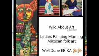 Heather Galler Inspired Mexican Folk Art Painting
