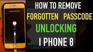 How To Remove Forgotten Passcode of iPhone 8📲 ( Unlock🔓/ Restore🔐/ Reset📝/ Setup 📱)