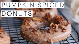 Vegan Pumpkin Spice Donuts Recipe | Celebrate Fall Vegan Style | The Edgy Veg