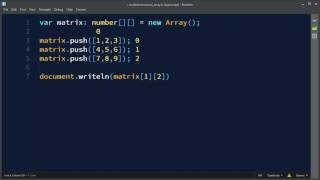 Multidimensional Arrays in TypeScript   Arrays of Arrays in TypeScript