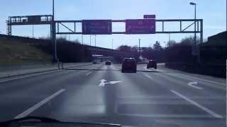 preview picture of video 'Austria: A7 Mühlkreis Autobahn near Linz'