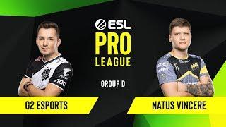 CS:GO - G2 Esports vs. Natus Vincere [Dust2] Map 3 - Group D - ESL EU Pro League Season 10