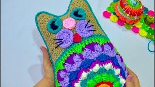 GATO MANDALA  Tejido A Crochet  Paso A Paso