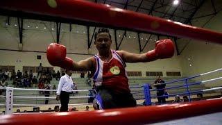 Cuplikan Tinju Pak Salam Vs Him Morning di Turnamen Azhari Cage Cup