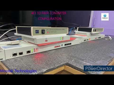4 E1 to Ethernet Converter