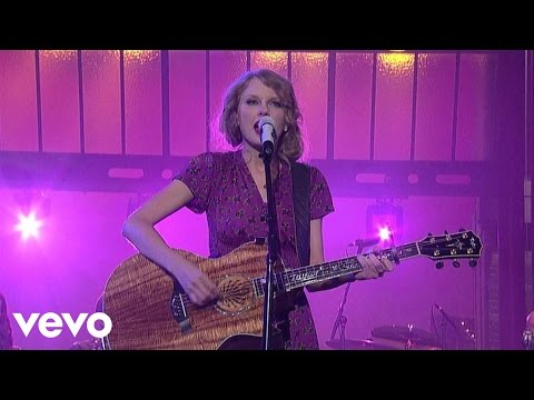 Taylor Swift – Back To December (Live on Letterman)