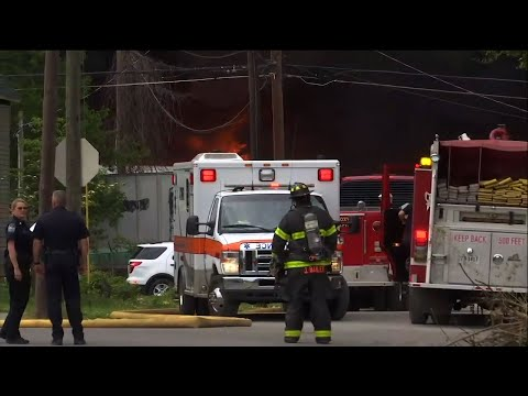 Firefighters in Knoxville, Tennessee evacuated about 70 homes near a recycling center fire. Authorities warned against breathing the fire's thick, black smoke. No immediate injuries were reported. All of the center's employees are accounted for. (May 2)