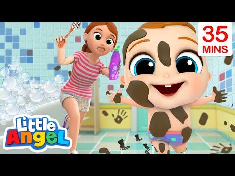 It's Bath Time Baby John! | Bath Song | Little Angel Kids Songs & Nursery Rhymes
