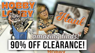 Hobby Lobby Haul! 90% Off Clearance! Shop With Me!