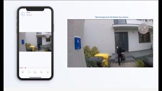 Sticker-Eye 簡単取付・配線不要のAI防犯カメラ ワイヤレスでスマホアプリで確認可能
