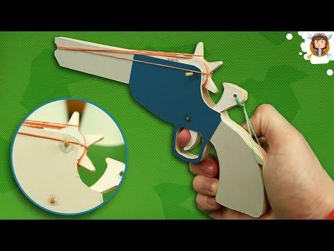 Rubber Band Gun - Tutorial - (Cardboard Pistol)