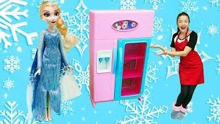 Видео для детей. Изучаем Холодильник с Эльзой. Веселая школа