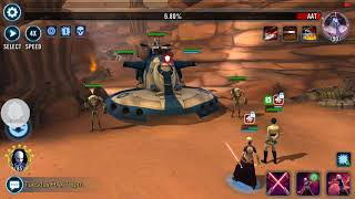 Zeta Asajj with the clutch save in HAAT P4 SWGOH