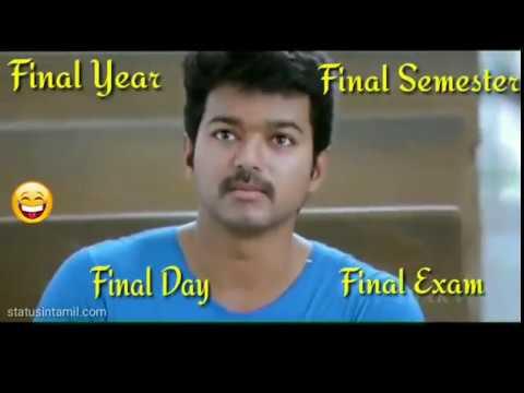 WhatsApp status /friendship /exam time comedy /tamil funny