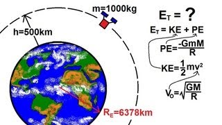 Physics - Mechanics: Gravity (18 of 20) Kinetic And Potential Energy Of A Circular Orbit