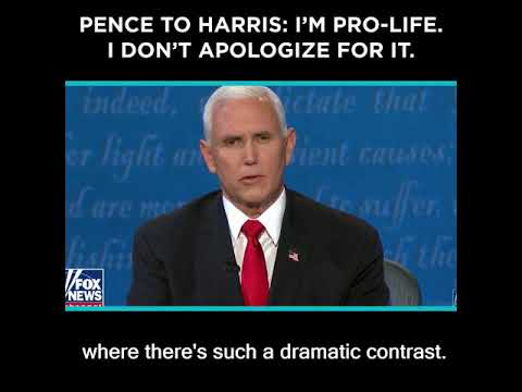 Pence to Harris: I'm Pro-Life. I Don't Apologize For It.