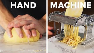 Handmade Vs. Machine-Made Pasta And Meatballs •Tasty