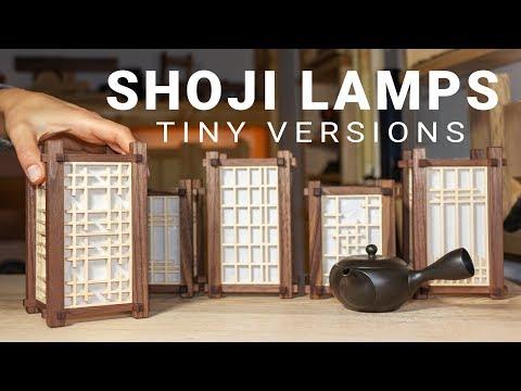 Making Mini Japanese Lamps with various Kumiko Panels