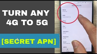 Secret APN that converts 4G to 5G on any network | Increase 4G Speed