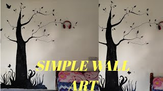 #Easy & DIY Homemade Wall Art Painting Designs Ideas For Bedroom/AJ VLOGS #2