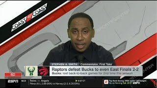Stephen A. Smith REACT to Bucks lost back-to-back games vs Raptors for 2nd time this season