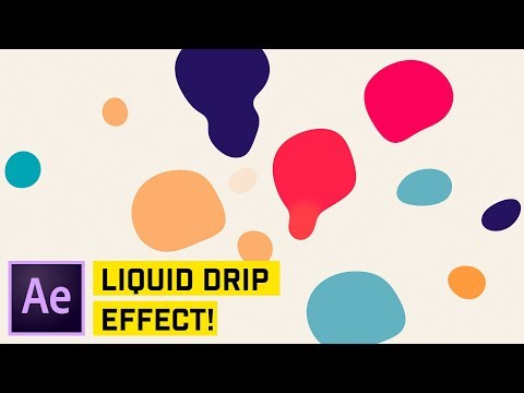 Liquid Drip Effect After Effects CC Tutorial