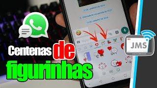 Como Adicionar CENTENAS de FIGURINHAS ao seu WhatsApp - CanalJMS