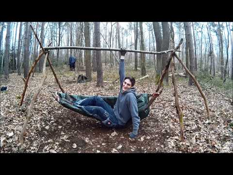 Bequem im Wald Übernachten/Sicher vor Zecken! Outdoor Bushcraft Liege Hollywoodschaukel Bauanleitung