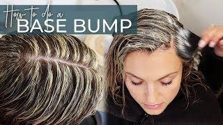 Base Bump Technique with no warmth (including my Secret Formula!) perfect for Blonde Highlights!