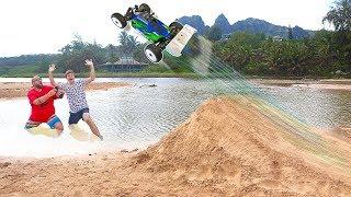 We Built a Huge RC Car Jump On The Beach! Hawaii Adventure Day 2!!