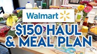 $150 WALMART GROCERY HAUL + PRINTABLE MEAL PLAN! 😁 AUG 4 2019 🛒 WALMART HAUL JEN CHAPIN