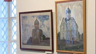 В Никольском соборе открыта персональная выставка почетного гражданина Великого Новгорода, участника войны
