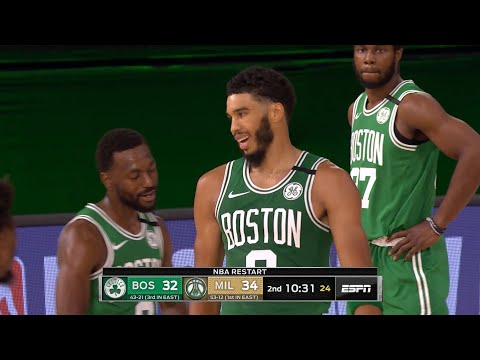 CELTICS vs BUCKS – 1st Half Highlights | NBA Restart