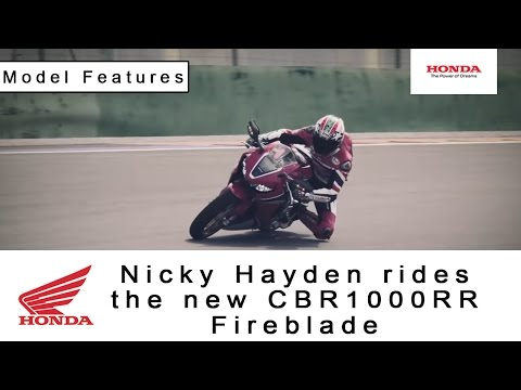 Nicky Hayden rides the new CBR1000RR Fireblade