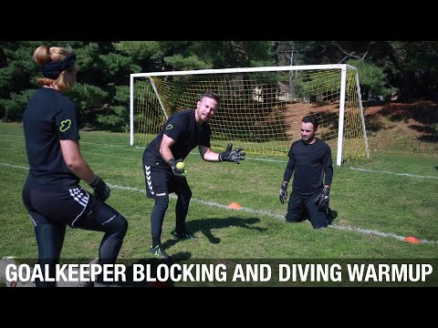 Goalkeeper Blocking and Diving Warmup