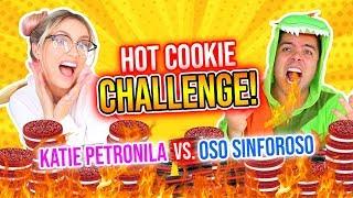 NUCLEAR FIRE COOKIE CHALLENGE 🔥🍪 | Katie Petronila🤓 vs Oso Sinforoso🐻 | Katie Angel