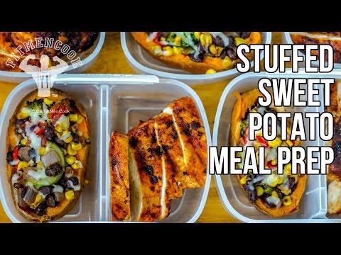 Video Bodybuilding Meal Prep Stuffed Sweet Potatoes / Batatas Rellenas con Verduras
