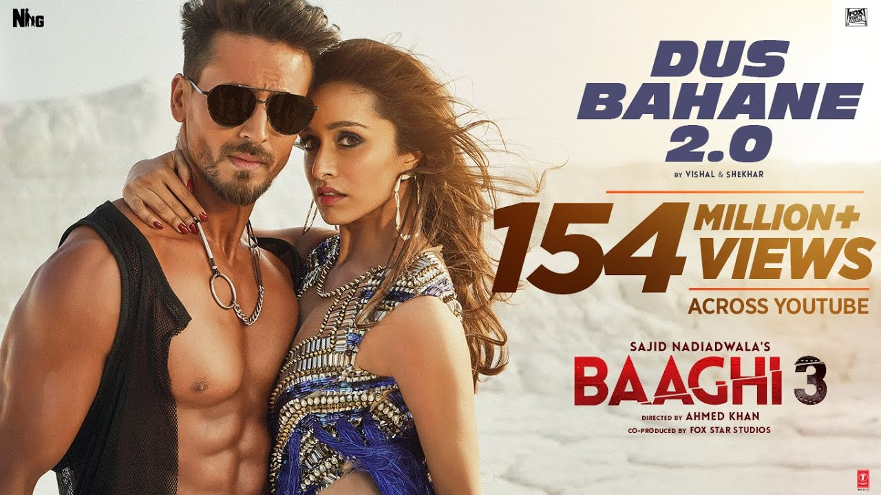 दस बहाने Dus Bahane 2.0 Lyrics in Hindi - Baaghi 3 - KK, Shaan, Tulsi Kumar