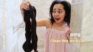 Tianas Hair Transformation | Jumbo Box Braids