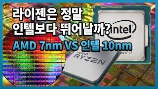 라이젠은 정말 인텔보다 뛰어날까? AMD 7nm VS 인텔 10nm